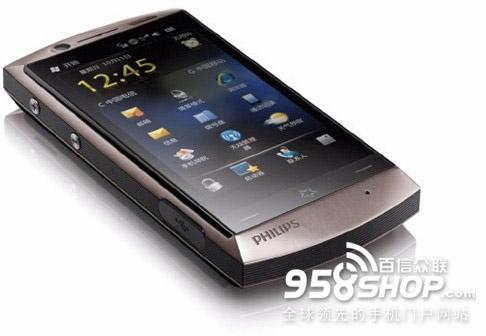 500w像素双模双待四通道商务3g手机 飞利浦d908官网特高清图片