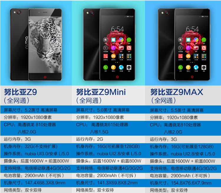 nubia Z9 Max采用了目前顶级的骁龙810处理器,选材方面使用了金属工艺和双面玻璃。nubia Z9系列新品通过提高软硬件配置,实现了取景、捕捉、处理、后期四要素的完美组合,树立了手机拍摄的高画质标准,为用户呈现最优秀的拍照与摄影体验。在材质的选择与处理上,nubia Z9 Max坚固的产品骨架配合前后双面康宁第三代大猩猩玻璃盖板更显通透硬朗,六层玻璃工艺雕刻出星耀纹理。nubia Z9 Max这次选用了与iPhone 6相同的喷砂工艺,最终造就其精益质感的视觉效果与得心应手的温润触感,为冰冷的金